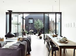 terrace as an extension of living room black window frames blog