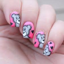 creative nails designs for v day