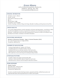Sample Resume For Overseas Jobs by Sample Resume Format For Fresh Graduates Two Page Format