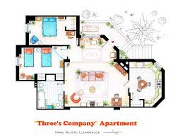 Of Our Favorite TV Shows Home  Apartment Floor Plans Design Milk - Apartment house plans designs