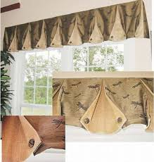 how to make box pleat valances with button back corners window