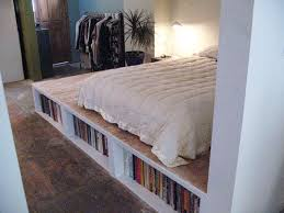 Make A Platform Bed With Storage by Look Diy Platform Bed With Storage Apartment Therapy