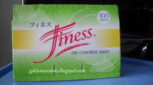 gale loves colors review finess oil control sheets