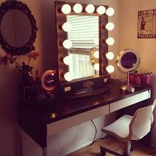 Vanity Bedroom Makeup Tips Exciting Vanity Desk With Lights To Relax During Grooming