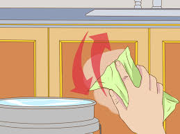 Clean Grease Off Kitchen Cabinets 3 Ways To Clean Greasy Kitchen Cabinets Wikihow