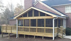 Screen Porch Roof by Porch Builder Contractor Archadeck Of Central Ga