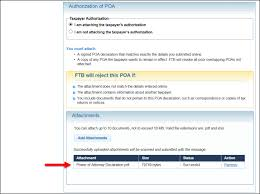 Power Of Attorney Pdf Form by Tax Preparer How To Submit A Ftb Form 3520 Power Of Attorney