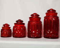 15 pc depression blue moon stars canister set butter dish vintage ruby moon star depression glass set of 4 red kitchen canistersglass