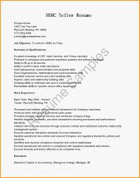 Career Objective For Bank Bank Teller Cover Letter Sample Image Collections Cover Letter