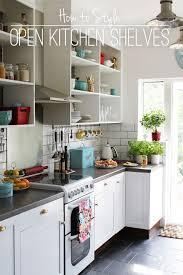 Kitchen Shelf Decorating Ideas Open Kitchen Shelves Inspiration 17 Best Ideas About Open Kitchen