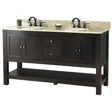 White Bathroom Vanity With Granite Top by Foremost Gazette 61 In W X 22 In D Double Bath Vanity In