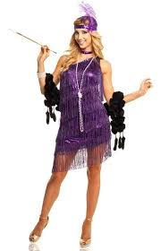 1920 Halloween Costumes Women U0027s Purple Fringed Flapper Costume Women U0027s 1920 U0027s Costume