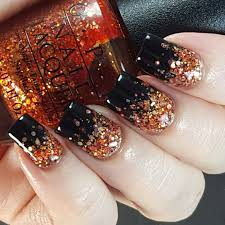 halloween glitter gradient nail art u2026 nail designs pinterest