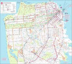San Francisco Bart Map Large Map Of San Francisco Michigan Map