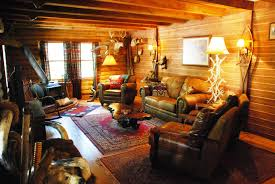 Lodge Living Room Decor by Decorations Log Cabin Style With Hunting Living Room Also Tribal