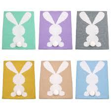 couverture coton bio tricot u0026eacute couverture lapin promotion achetez des
