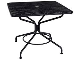 Cast Iron Patio Set Table Chairs Garden Furniture - woodard mesh wrought iron 36 square table with umbrella hole in