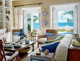 decorating ideas concept presenting beach in the home with