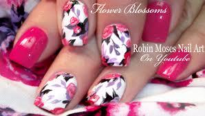 Robin Moses Nail Art by Robin Moses Nail Art Spring Flower Bouquet Nail Art Design