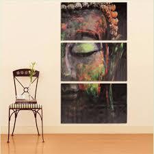 40x60cm buddha statues triple frameless canvas prints oil painting