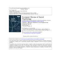 intention u2014behavior relations a conceptual and empirical review
