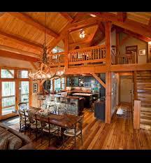 Log Cabin With Loft Floor Plans Open Floor Plan With Loft Wooden Walls Rustic Abode Pinterest