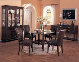 Crystal Chandeliers For Dining Room Modern Dining Room Rugs Black Round Stained Wooden Dining Table