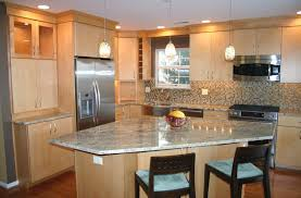 kitchen layouts featured with an island and some seats home