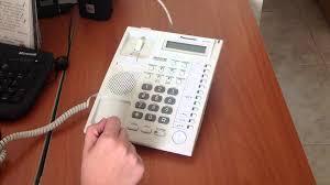 teléfono panasonic conferencia kx t7730 youtube