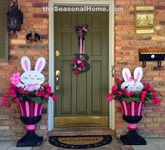 Easter Decorations For Home 3 Different Looks With 2 Bunnies For Easter From Www