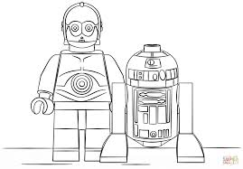 lego r2d2 and c3po coloring page free printable coloring pages