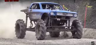 monster trucks cool video classic 4x4 mustang mud truck knows how to get dirty