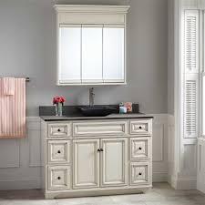 Misschon Vessel Sink Vanity Antique White Bathroom - 48 bathroom vanity antique white