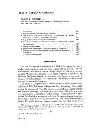 Topics in singular perturbations