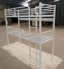 home hostel dorm cheap twin double size 2 level bunk steel metal