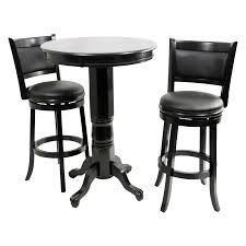 Kitchen Table Bar Style Boraam Augusta 3 Piece Pub Table Set Black Sandthru Hayneedle
