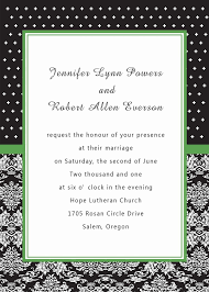 Discount Wedding Invitations With Free Response Cards Unique White And Black Damask Green Printable Cheap Wedding