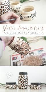 best 20 animal print decor ideas on pinterest cheetah living diy leopard print glitter mason jar organizer perfect for teens and animal print lovers