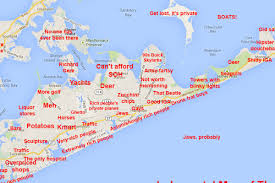 Map Of Boston Neighborhoods by Easily Offended Skip The Judgmental Map Of The Hamptons Curbed