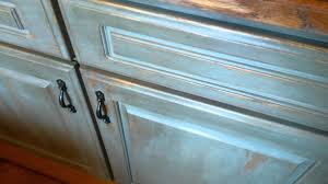 cabinets chalk paint distressed youtube