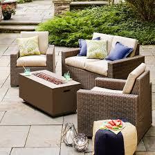 Wicker Outdoor Furniture Sets by Heatherstone 4 Piece Wicker Patio Conversation Furniture Set