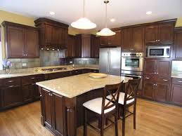 kitchen dazzling white wall and brown floor ideas amusing design