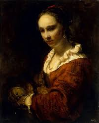 Young Woman in a Pearl Necklace