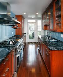 Blue Backsplash Kitchen Granite Countertop Backsplash Kitchen Contemporary With Black
