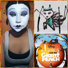 miss spider makeup tutorial james and the giant peach youtube