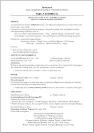 Physical Therapy Resume Sample by Best Medical Esthetician Resume Samples Xpertresumes Com