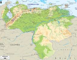 Physical Map Of South America by Maps Of Venezuela Map Library Maps Of The World