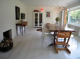 White Washed Wood Flooring Dining Room Contemporary With Armoire - Dining room armoire