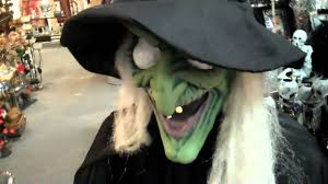 scary animated witch decoration for halloween youtube