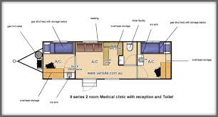 Caravan Floor Plan Layouts Medical Facilities Medical Clinic Vansite Industrial And